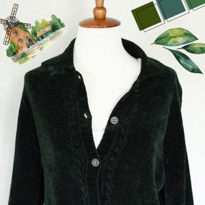 ☾ Vintage chenille knit collared sweater